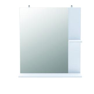 KORALIE 2, zrcadlo  s poličkou, bílá