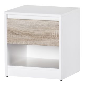 VENECIA II, noční stolek, dub sonoma/bílá