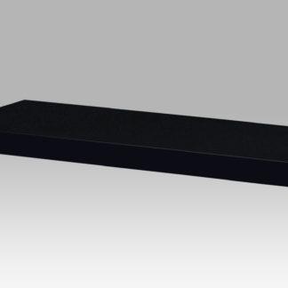 Nástěnná polička P-002 BK, 120 cm, barva černá - vysoký lesk