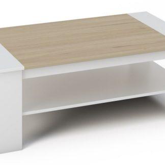 BERN konferenční stolek, bílá/dub sonoma