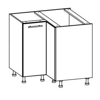 T26/D90NW - TIFFANY, dolní rohová skříňka D90NW, bílý lesk