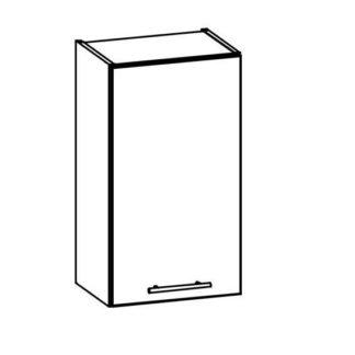 T3/G40 - TIFFANY, horní skříňka G40, bílý lesk