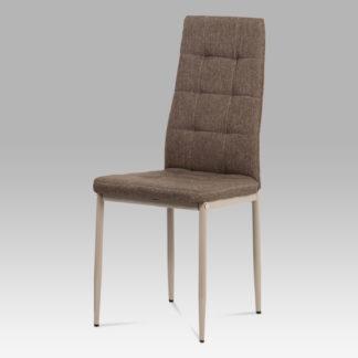 Jídelní židle DCL-397 CRM2, šedá látka/kov matný cappuccino