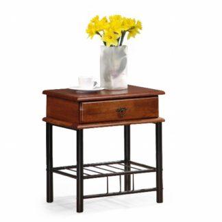 Noční stolek FIONA, třešeň antická/černá