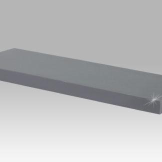 Nástěnná polička 60 cm P-001 GREY, šedivý vysoký lesk