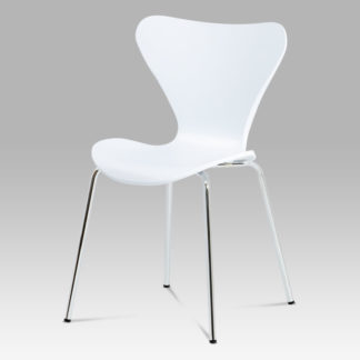 Jídelní židle AURORA WT, chrom / bílý lesk