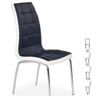 Židle K-186, černá/bílá