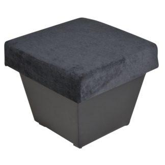 Taburet TOLEDO, látka černá