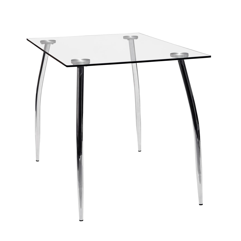 Jídelní stůl GRANADA, kov/sklo
