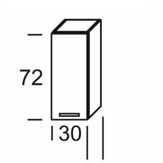 KAMDUO, horní skříňka DUO W3, dub sonoma