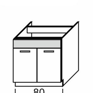 KAMDUO, dolní skříňka DUO DZ8, dub sonoma/láva