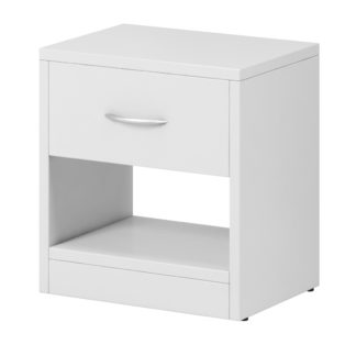 Noční stolek NEA 1S, bílý mat