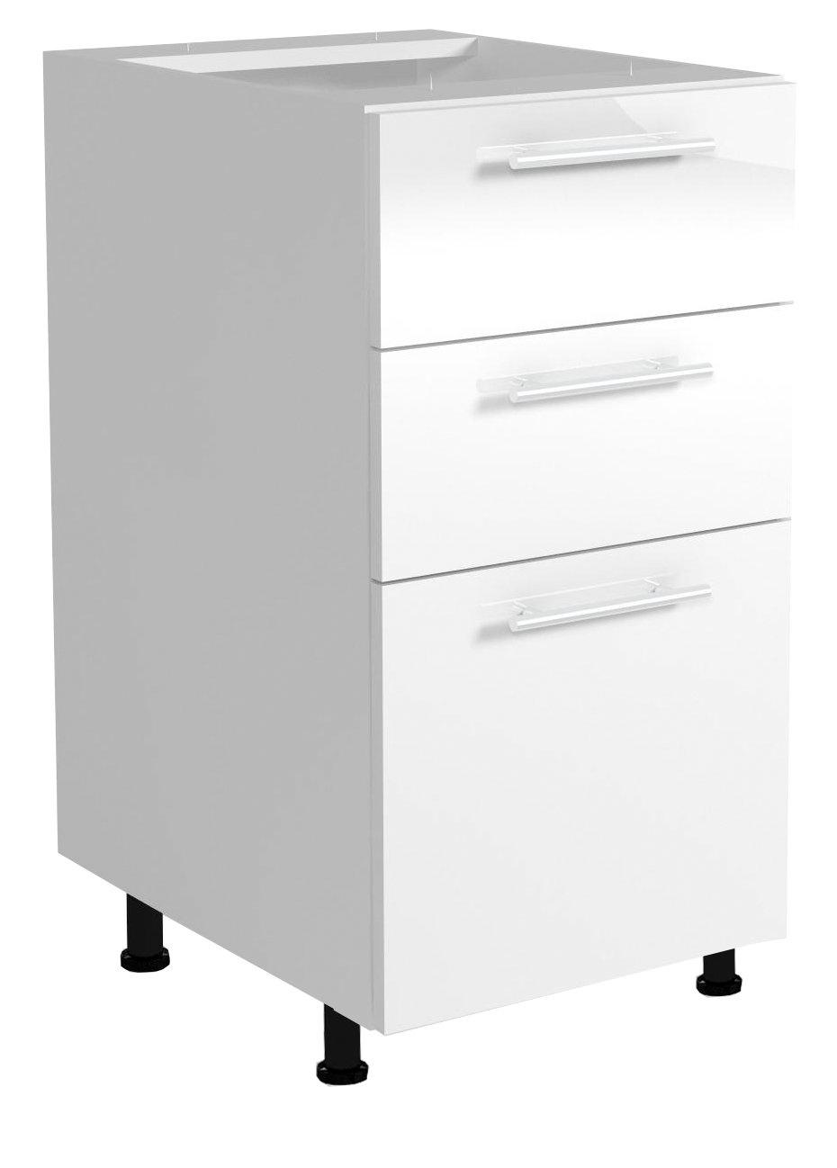 Dolní skříňka s šuplíky VENTO D3S-40/82, dvířka: béžový lesk
