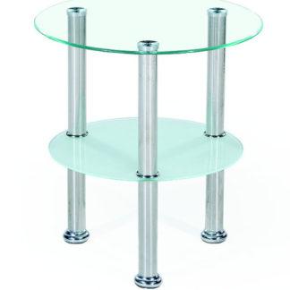 Konferenční stolek SARDINIA, kov/sklo