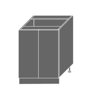 EMPORIUM, skříňka dolní D11 60, korpus: lava, barva: light grey stone