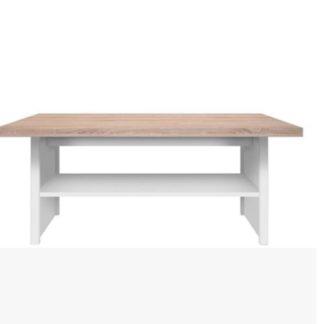 TOPTY TYP 18 konferenční stolek, bílá/dub sonoma
