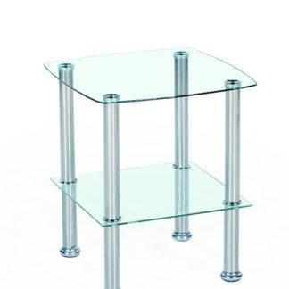 Konferenční stolek CANARIA, kov/sklo