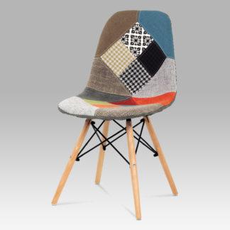 Jídelní židle CT-724 PW2, patchwork / natural