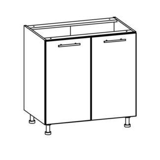 T22/D80 - TIFFANY, dolní skříňka D80, bílý lesk