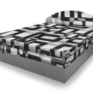 Polohovací čalouněná postel VESNA 160x200 cm, šedá látka