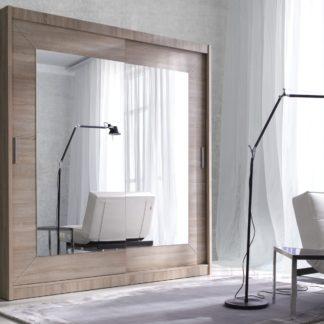 ALFA šatní skříň se zrcadlem 180 TYP 17, dub sonoma světlý