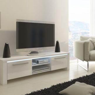 TV stolek HELIX, bílá/bílý lesk