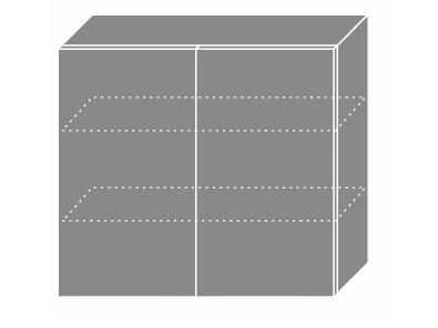 EMPORIUM, skříňka horní W3 80, korpus: grey, barva: grey stone