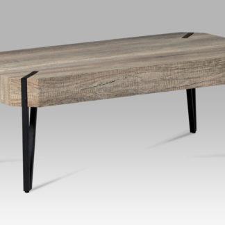 Konferenční stolek AHG-241 CAN, dub canyon grey/černá