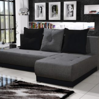 Rohová sedačka INSIGNIA 11, šedá/černá