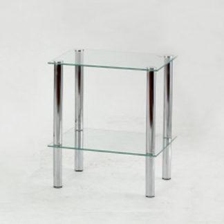 FREDDY 1 regál, kov/sklo
