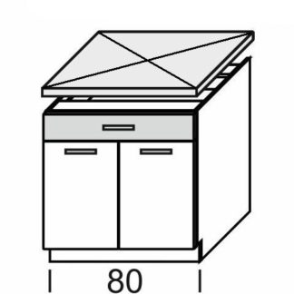 KAMDUO, dolní skříňka DUO DS8/1, dub sonoma/láva