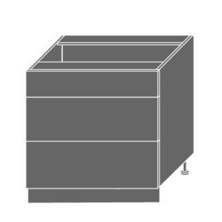 EMPORIUM, skříňka dolní D3E 80, korpus: bílý, barva: light grey stone