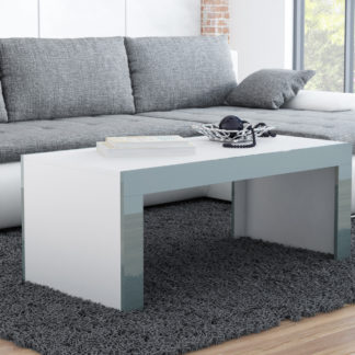 Konferenční stolek TESS, bílý mat/šedý lesk