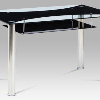 Jídelní stůl HT-415 BK, sklo / chrom
