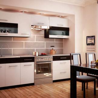 Kuchyně JURA NEW B ZS 200/260 cm, bílá/wenge