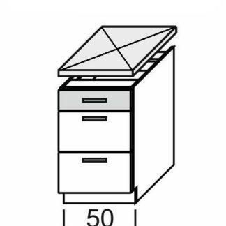 KAMDUO, dolní skříňka DUO DS5/3, dub sonoma/láva