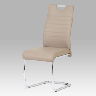 Jídelní židle, koženka cappuccino / chrom DCL-418 CAP