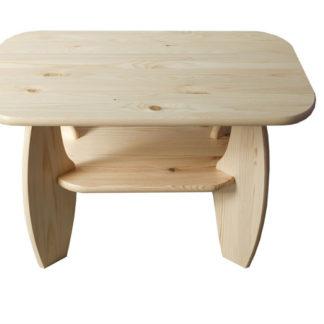 Konferenční stolek 65x65 nr.5, masiv borovice, moření: ...