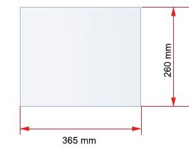Skleněná police pro skříňku o šířce 40 cm