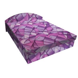 Čalouněná postel ÁJA 160x195 cm, fialová látka