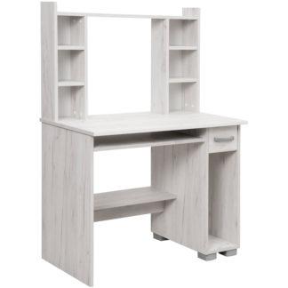 PC stůl s nástavcem DIONYS, dub sněhový