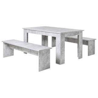 Jídelní  sestava MUNCHEN 140, imitace beton