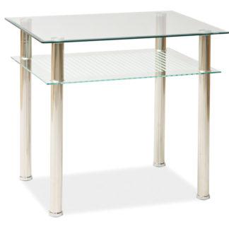 Jídelní stůl PIXEL 80x60 cm, kov/sklo