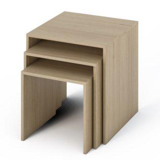 SIMPLE konferenční stolek 3v1, dub sonoma