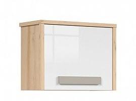 NAMEK závěsná skříňka SFW1D, buk iconic/bílý lesk/šedá