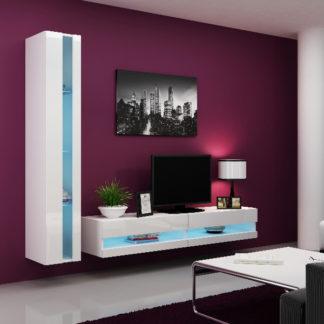 Obývací stěna VIGO NEW 8, bílá/bílý lesk
