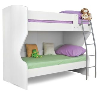 HAPPY, patrová postel, bílá