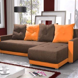 Rohová sedačka INSIGNIA BIS 19, hnědá/oranžová