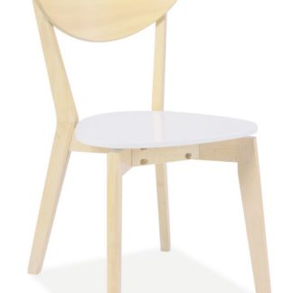 Jídelní židle CD-19, bílá/dub