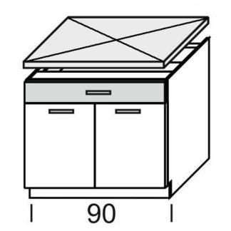 KAMDUO, dolní skříňka DUO DS9/1, dub sonoma/láva